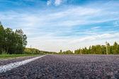 Carretera y los prados — Foto de Stock