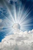 Sun in the clouds — Zdjęcie stockowe