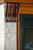 Fireplace decor element — Stock Photo
