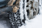 Wheel in the snow — Stock Photo