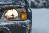 Car in the winter — Stock Photo