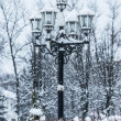 Stock Photo: Lamp post in snow