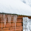 House roof icicles — Stock Photo #18563053