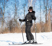 Woman skiing — Stock Photo