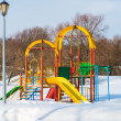 Playground in winter - Stock Photo
