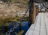 Bridge on the pond — Stock Photo