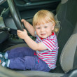 Stock Photo: Child in car