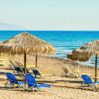 Stock Photo: Beach umbrellas cyprus