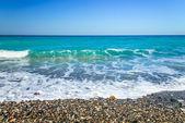 Deserted beach sea — Stock Photo