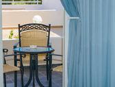 Desk chair on the terrace — Stockfoto