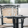 Table chair on the veranda — Stock Photo