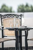 Table chair on the veranda — Stock Photo