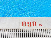 Edge of the swimming pool overflow — Stock Photo