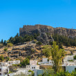 Fortress was not a mountain in Greece Rhodes — Stock Photo #38080087