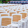 Facing a number of seats in the concert hall in the open air — Stock Photo #38183033