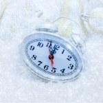 Christmas clock five minutes left — Foto de Stock