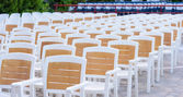 Facing a number of seats in the concert hall in the open air — Stock Photo