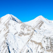 Winter landscape of snow-capped mountains Pirin — Stock Photo