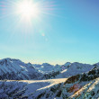 Stock Photo: Winter mountain landscape against blue sky. Peaks of Pirin M