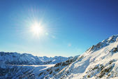 Winter mountain landscape against the blue sky. Peaks of Pirin M — Stock Photo