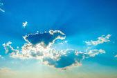 太阳在云层中 — 图库照片
