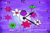 Ladybird Clock Purple — Stock Photo