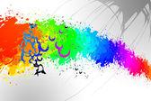 Abstract art design fun color — Stock Photo