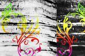 Abstract art design fun color work texture retro vintage — Stock Photo