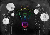 бизнес-идея лампочки — Стоковое фото