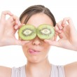 Funny eyes made of kiwi — Stock Photo #21651447