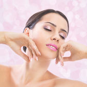 Sensuality of pink beauty — Stock Photo