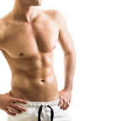 Handsome shirtless young man — Stock Photo