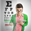 Eye vision problem — Stock Photo