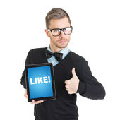 Social network geek — Foto de Stock