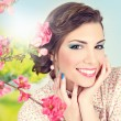 Spring beauty and makeup — Stock Photo