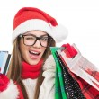 Cute young woman Christmas shopping — Stock Photo #35455269