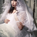 Vintage-la francese ritratto della principessa sposa di una belle brune — Foto Stock #16209837