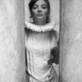 Vintage-la francês princesa retrato de uma bela morena. ó — Foto Stock