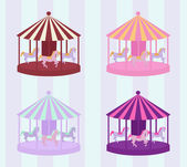 Carousel set — Vecteur
