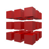 3D Cubes puzzle — Stock Photo