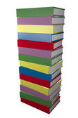 Tower of reading books — Stock Photo