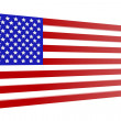 United States flag in 3D — Stock Photo