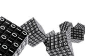 Cubes with binary numbers — Stock Photo