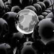 Abstract composition with balls and bubbles — Stock Photo
