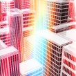 Illuminated office buildings in city — Stock Photo #25180017