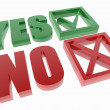 Yes and no symbols — Stock Photo