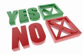 Sì e no simboli — Foto Stock