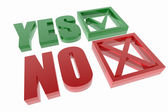 Yes and no symbols — Stock Photo