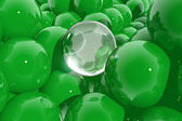 Abstract composition with green spheres — Stock Photo
