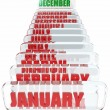 December month in the calendar - Stock Photo